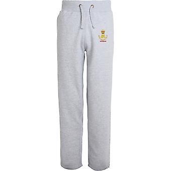 Royal Waggon Train Veteran - Licensed British Army Embroidered Open Hem Sweatpants / Jogging Bottoms