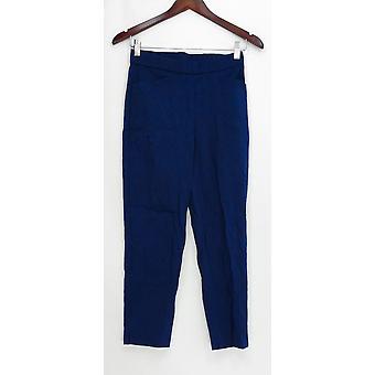 Susan Gravir Donne's Pantaloni Ultra Stretch Pull-On Crop Blue A302645