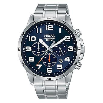 Pulsar active Japanese Quartz Analog Man Watch with PT3A13X1 Stainless Steel Bracelet