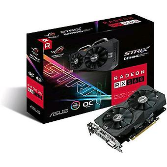 Asus rog-strix-rx560-o4g-gaming graphics card amd radeon rx 560 4gb gddr5 pci express 3.0 interface with fan
