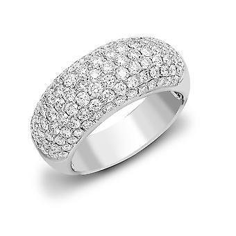 Jewelco London Ladies Solid 18ct White Gold Pave Set Round G SI1 2ct Diamond Bombay Eternity Ring 10mm