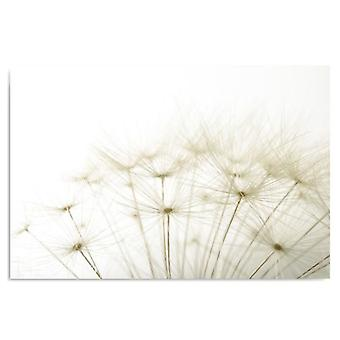 Canvas, Picture on canvas, Fragment of dandelion