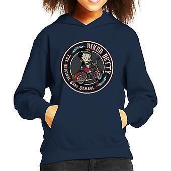 Betty Boop Biker Kid's Kapuzen Sweatshirt
