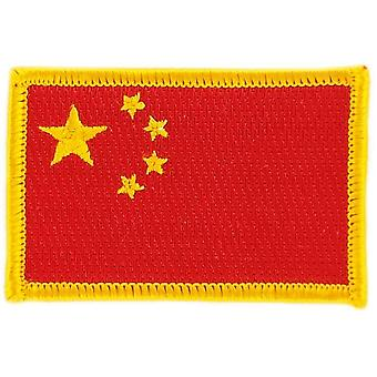 Patch Ecusson Brode Drapeau  Chine Chinois  Thermocollant  Insigne Blason