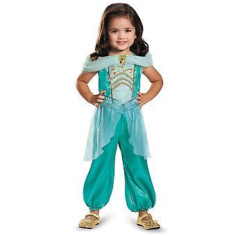 Jasmine Disney Princess Aladdin Genie bok uke pjokk jenter kostyme 3T-4T