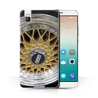 STUFF4 Case/Cover for Huawei Honor 7i/ShotX/Gold/Chrome/Alloy Wheels