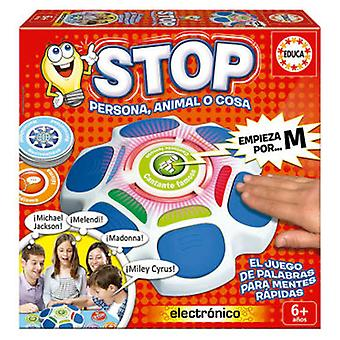 Educa Stop. Person, animal or thing (Toys , Boardgames , Knowledge)