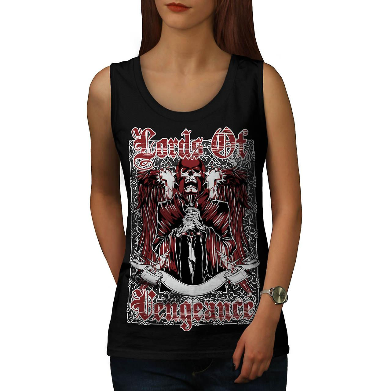 Lords Of Vengeance Monster Skull kvinner sort Tank topp | Wellcoda