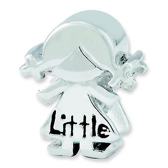 Sterling Silver Reflections Little Sister Girl Bead Charm