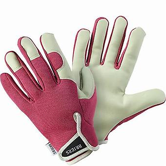 Briers Pink Lady Gardener Soft Leather Gloves