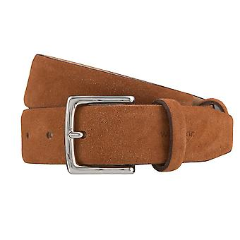 Windsor. Belts men's belts leather belt Cognac 4174 suede