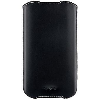 VICIOUS AND DIVINE Superior Leather Soft Vest for Samsung Galaxy SIII/S4 and Others Extra Large Black (VAD-S100-4500-XL-BK)