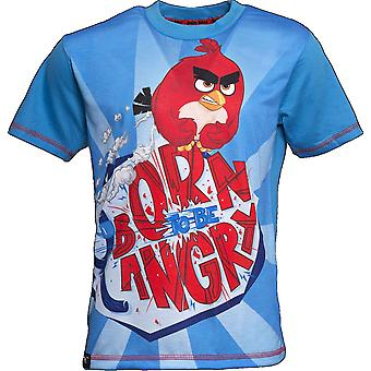 BORN TO BE ANGRY | ANGRY BIRDS MOVIE | Official Licensed | Angry Bird T-Shirt | Age 9-10