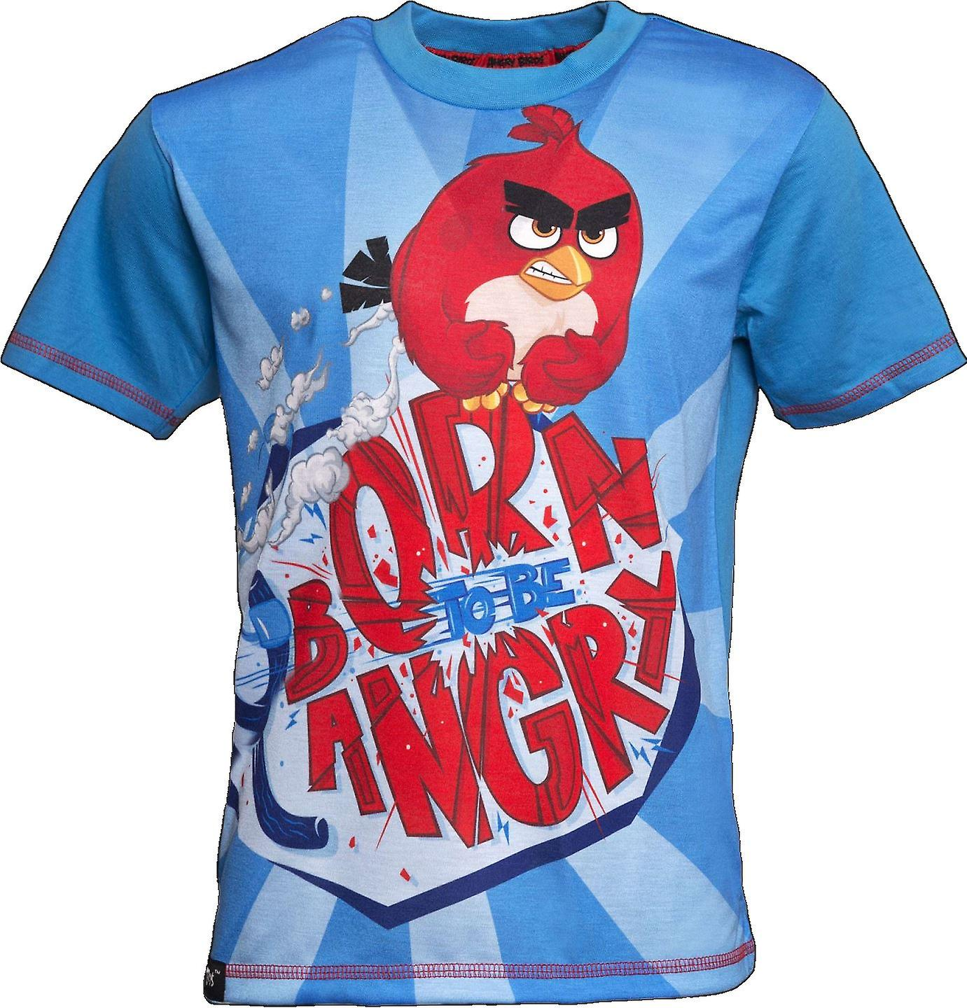 BORN TO BE ANGRY   ANGRY BIRDS MOVIE   Official Licensed   Angry Bird T-Shirt   Age 9-10