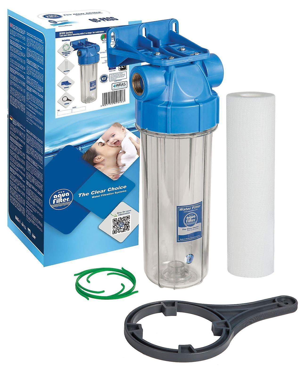 1 cold water filtration in line purify system housing whole filter set fruugo. Black Bedroom Furniture Sets. Home Design Ideas