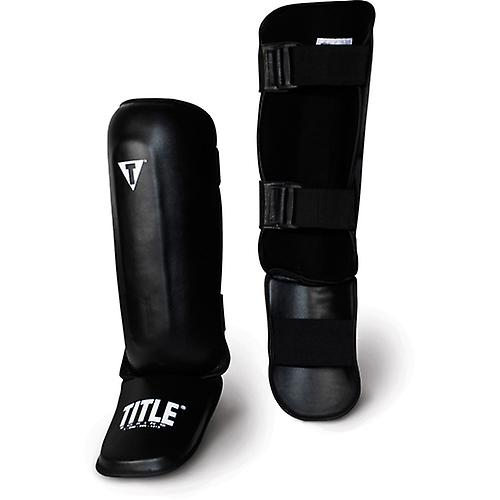 Title Pro Style Shin Instep Guards-Adult