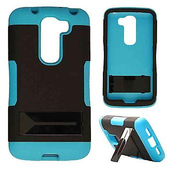 Hopper Protector Case for LG G2 Mini (sort hud og fluorescerende perle blå Snap
