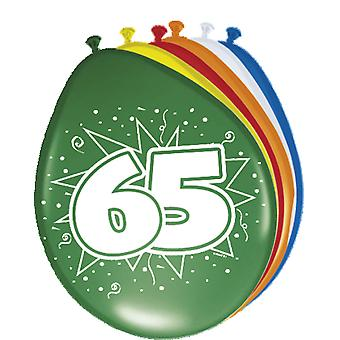 Colorful balloons balloon number 65 birthday 8 St. decoration balloons party