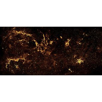 Hubble Telescope - Center of the Milky Way Galaxy Poster Print Giclee