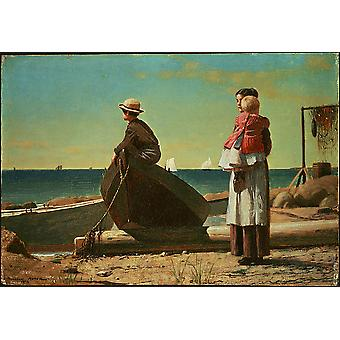Winslow Homer - Dad's Coming Poster Print Giclee