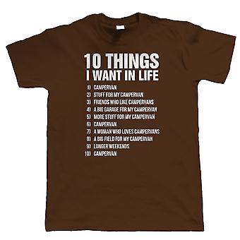10 Things Campervan Mens Funny T Shirt