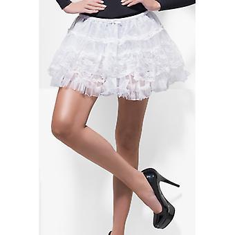 Luxus Petticoat weiss Spitze sexy Unterwäsche Damen Rock