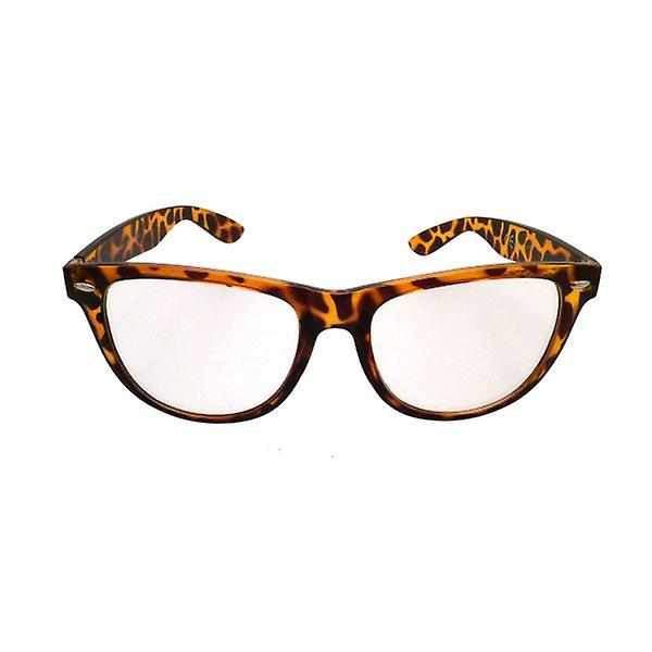 W.A.T Retro Tortoiseshell Framed Clear Glass Geek Glasses