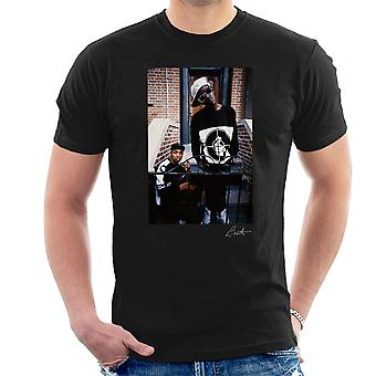 Publieke vijand Flavor Flav Chuck D op stappen mannen T-Shirt