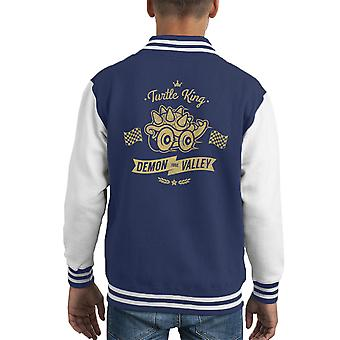 Schildpad koning Demon Valley Bowser Mario Kart Kid's Varsity Jacket