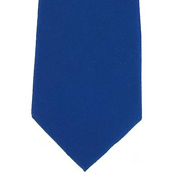 Eingewandt London Plain Seide Tie - royalblau