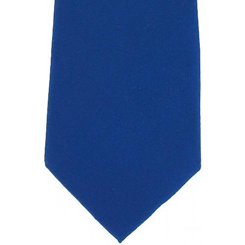 Michelsons of London Plain Silk Tie - Royal Blue