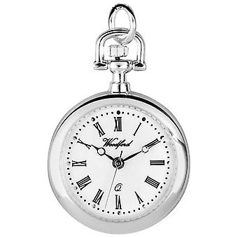 Woodford Chrome Plated Quartz hanger horloge - zilver