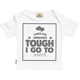 Spoilt Rotten When Going Gets Tough I Go To Auntys Short Sleeve Baby T-Shirt