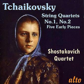 Sjostakovitsj Quartet - Tsjaikovski: strijkkwartetten Nos. 1 & 2; Vijf vroege stukken [CD] USA importeren