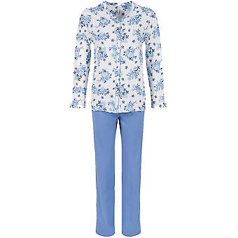 Pastunette 2062-365-6-527 Frauen blaue Blumen Baumwolle Pyjama Pyjama