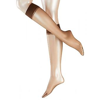 Falke Shelina ultra Transparent 12 deniers genou haut collants - brun café