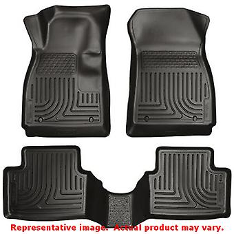 Husky Liners 98751 WeatherBeater negro frente y asiento 2 ajustes: FORD 2011-2014