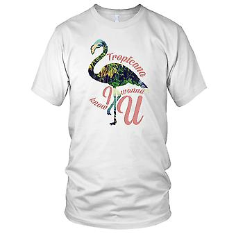 Tropicana Flamingo Cool Design Ladies T Shirt