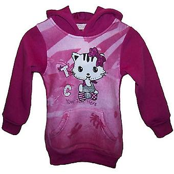 Girls Jumper Cat / kitty Fleece hoodie