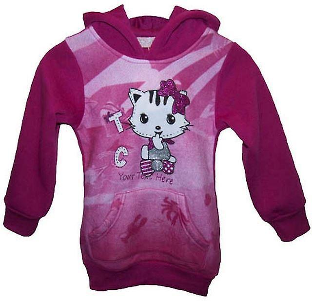 Girls Jumper Cat / kitty Fleece hoodie