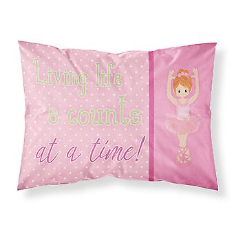 Ballet in 8 Counts Red Hair Fabric Standard Pillowcase