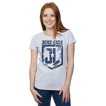 DC Comics Women's Justice League Movie Indigo Logo T-Shirt