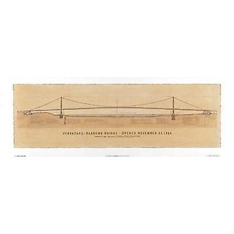 Verrazano-Narrows-Brücke Poster Print von Craig Holmes (38 x 13)