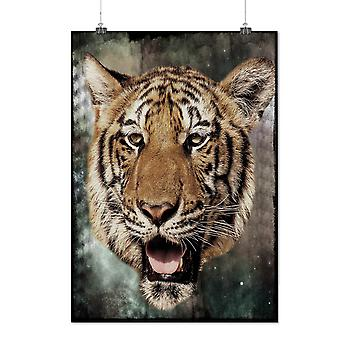 Matte or Glossy Poster with Tiger Beast Eye Animal | Wellcoda | *y713