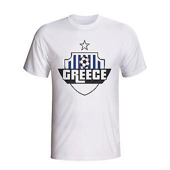 Grækenland land Logo T-shirt (hvid) - børn