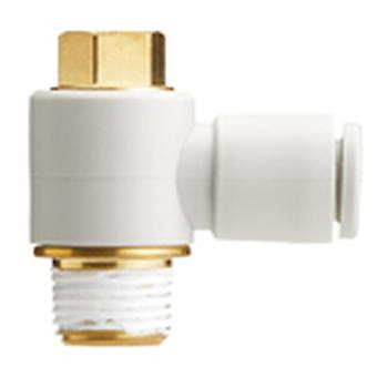 Smc Kq2V06-02As One-Touch Fitting White Color - Universal Male Elbow