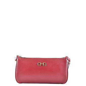 Salvatore Ferragamo women's MCBI367006O red leather clutch