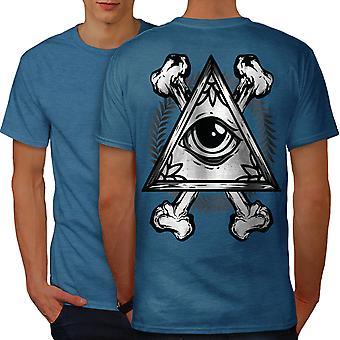 Driehoek oog mannen Koninklijke Bluetooth-shirt terug | Wellcoda