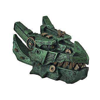Mechanische Steampunk-Drachen Kopf dekorativen Schmuck Box