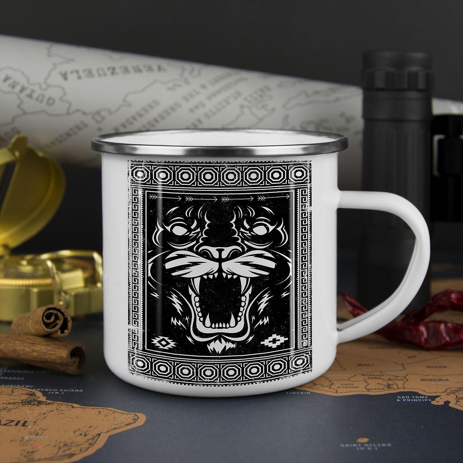 Face Beast Animal NEW WhiteTea Coffee Enamel Mug10 oz | Wellcoda